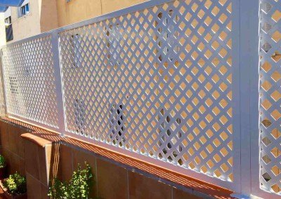 Cerramiento metalica chapa decor perforada